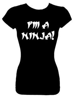 (IM A NINJA) Fitted Shirt