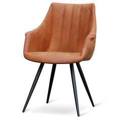 Leren Vintage Eetkamerstoel Elly | Design meubelen en de laatste woontrends #cognac #eetkamerstoel #chair #vintage #interior #leder #leer #cowboy #stoel #elly #zen #lifestyle #zenlifestyle #newin #herfst