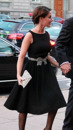 Princess Marie of Denmark 9/20/13 LBD with sparkly bow