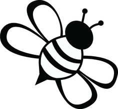 coloring pages - Line Drawing Simple Bee ClipArt Best Cliparts co Bee Drawing, Butterfly Drawing, Bee Stencil, Stencils, Bumble Bee Images, Bumble Bee Clipart, Bee Outline, Bee Template, Bee Silhouette