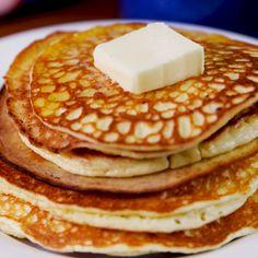 We can't believe these fluffy pancakes are Keto friendly! #ketorecipes #ketopancakes #ketobreakfast #healthyrecipes #healthypancakes #delish