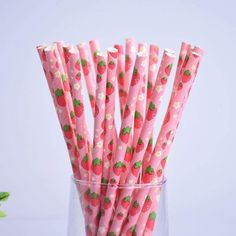 Fun Straws: Strawberry Pineapple Watermelon Paper Straws