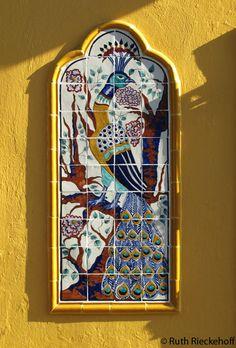 Tile Peacock, Callejon de los Sapos, Puebla, #Mexico