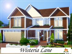 Wisteria Lane is a family home built on a 40 x 30 lot. Found in TSR Category 'Sims 4 Residential Lots'