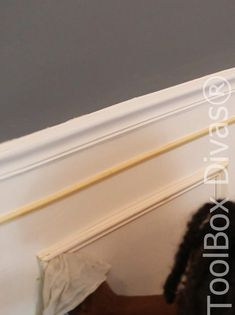 How to Install Picture Frame Moulding Wainscoting - ToolBox Divas Picture Frame Wainscoting, Beadboard Wainscoting, Dining Room Wainscoting, Wainscoting Panels, Picture Frame Molding, Picture Frames, Stair Paneling, Installing Wainscoting, Wainscoting Ideas