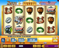 Zeus™ Slots - This game is popular in casinos the world over and is now available online from WMS. You'll find Zeus, Pegasus, the Parthenon and various other symbols associated with the god. The wild symbol is the.....