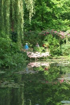 Giverny - Monets water garden where he painted his famous waterlily paintings.