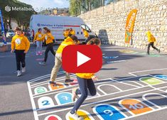 PLAYFORM - Playground marking games for kids, Company logos and Street decorations Outdoor Games, Outdoor Play, Asphalt Games, Road Markings, Playground Games, Yard Games, School Decorations, Educational Games, Street Signs