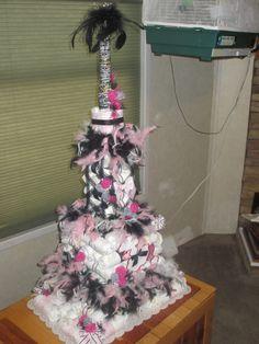 Eiffel Tower Diaper Cake Ain T That Crafty Pinterest