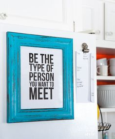 Create an ultra-stylish refrigerator frame for art and printables with In My Own Style