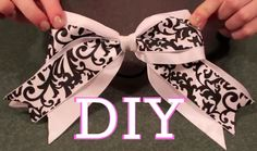 Determined to make cheer bows Softball Hair, Softball Bows, Cheerleading Bows, Cheer Hair Bows, Diy Hair Bows, Diy Bow, How To Make Hair, How To Make Bows, Ribbon Bows