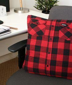The Interior DIYer: Canadian man cave - man pillow