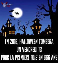 Cette année, Halloween tombera un vendredi 13 ! - Be-troll - vidéos humour, actualité insolite