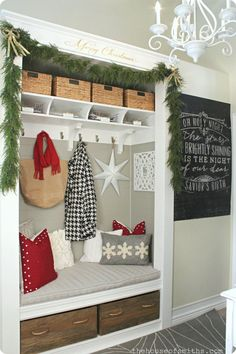 Cute instead of entry way closet