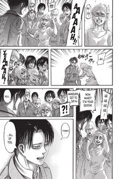 Levi's smiles?  Levi Squad, killer of Titans and Men are dumbfounded.