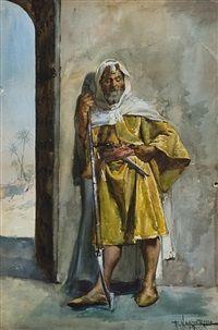 Armed at the gate, Enrico Nardi