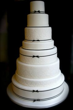 Tartas de boda - Wedding Cake - black and white wedding cake
