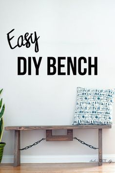 to make a DIY industrial farmhouse bench. Perfect rustic bench for outdoor or indoor made with structural lumber. Great for farmhouse or dining bench too! Diy Furniture On A Budget, Diy Furniture Projects, Cool Diy Projects, Furniture Plans, Rustic Furniture, Wood Projects, Entryway Furniture, Furniture Outlet, Discount Furniture