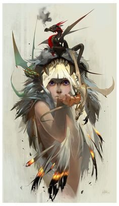 Game of Thrones Concept Art Illustration - Jen Zee Blood of the Dragon Art And Illustration, Portrait Illustration, Fantasy Kunst, Fantasy Art, Fantasy Dragon, Art Game Of Thrones, Character Concept, Character Art, Art Gallery