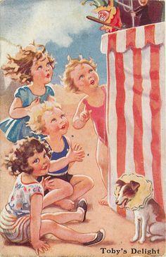 """Toby's Delight""...vintage Oilette postcard."