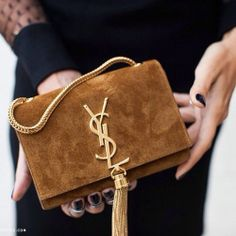 YSL clutch #gold #tassel