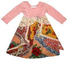 "Mimi & Maggie ""Handkerchief & Lace"" Dress"