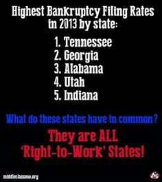 Right to Work laws need to be repealed in every state dumb enough to pass them.  Unfortunately I live in one of them....