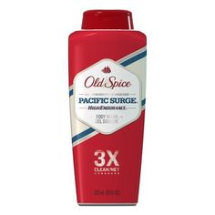 Old Spice High Endurance Pacific Surge Scent Men's Body Wash 18 Fl Oz (Pack of 6) by Old Spice. $28.94. Hydrating formula leaves your skin smooth, not tight or dry or on the curb, crying into the rain.. Manly scent forces your body to smell great, even when it doesn?t want to.. Refreshing lather drop-kicks dirt and odor, does a clothesline on them and then slams them with a folding chair.. Scrub three levels of shame away. There are three known levels of dirt and odor. The...