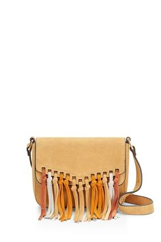 Rapture Small Shoulder Bag - Tassel time. This is a sleek and simple bag shape made fresh (not to mention festival-ready) with tons of tassels. It features a compact main compartment secured by a top flap. Sling it crossbody or let it hang off your shoulder, then get ready to dance the night away.    Style#:HSP7IRHD07