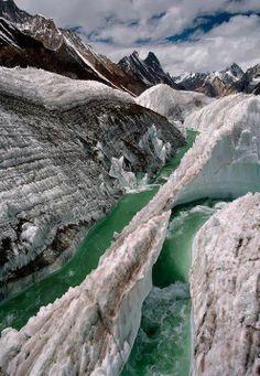 The Baltoro Glacier, Pakistan: