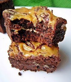 Dulce de Leche Brownies, (from David Lebovitz's The Sweet Life in Paris)