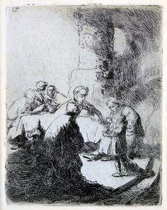 Rembrandt van Rijn, Christ Disputing with the Doctors: Small Plate 1630  on ArtStack #rembrandt #art
