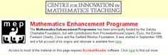 Mathematics Enhancement Programme - British, all levels and all material is free.