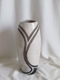 vase raku céramique grès fait main artisanal Jean-Pierre et Danièle Meyer                                                                                                                                                      Plus