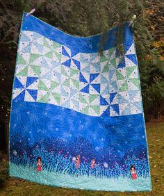 Wee wander pinwheel quilt
