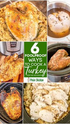 Turkey Recipes, Meat Recipes, Chicken Recipes, Cooking Recipes, Recipies, Turkey Meals, Slow Cooker Turkey, Cooking Turkey, Slow Cooking