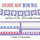 Anchors Away Printable Décor Pack Decorate your classroom with a red, white, and blue nautical theme.  $