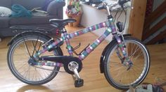 Washi-tape make-over for bike