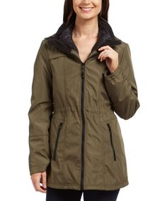 $89.99/$270.00 Look at this Moss Drawstring 3-in-1 Jacket on #zulily today! #JessicaSimpson #3-in-1jacket