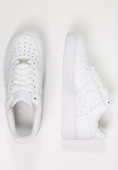 Nike Sportswear AIR FORCE 1 - Trainers - white for with free delivery at Zalando Air Force 1, Nike Air Force, White Sneakers Nike, White Sneakers Outfit, Nike Sportswear, Dressy Shoes, Cute Shoes, Nike Air White, White Air Force Ones