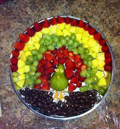Thanksgiving fruit platter!