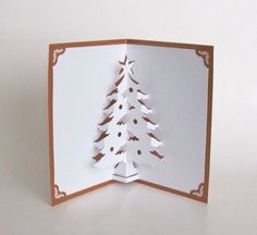 Christmas Tree 3D Pop Up Greeting Card Home Décor by BoldFolds