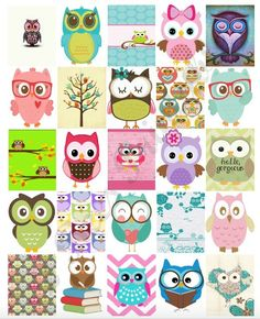Printable Owl Box stickers for Erin Condren Life Planner. These super cute…