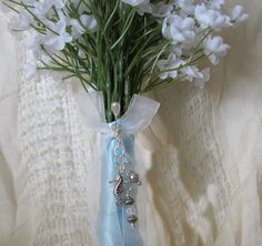 Beach Wedding Bouquet Charm by Keepsakes By Katherine on Etsy