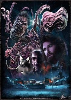 Christopher Lovell's The Thing by John Carpenter. I bought this shirt fir Doug, Bottin's work in this film is 1 of many inspirations that got us into Spfx Makeup -Susassin Horror Icons, Horror Movie Posters, Movie Poster Art, Fantasy Movies, Sci Fi Movies, Scary Movies, Terror Movies, Ghost Movies, Arte Horror