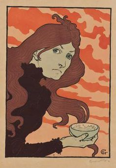 Eugène Grasset La vitrioleuse (1894). The Hammer Museum show, Tea and Morphine: Women in Paris, 1880 to 1914, will continue until May 18, 2014.