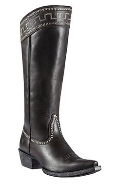 Ariat® Sahara™ Women's Old West Black Snip Toe Tall Boots | Cavender's