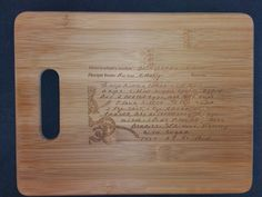 Custom engraved cutting board for Melissa from 3DCarving on Etsy