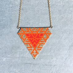 Items similar to Miyuki beads necklace / gold gold filled 14 k / orange necklace / gift / necklace summer / beach necklace / women necklace / women gift on Etsy Bead Jewellery, Beaded Jewelry, Handmade Jewelry, Summer Necklace, Summer Jewelry, Loom Beading, Beading Patterns, Bead Embroidery Jewelry, Beaded Embroidery