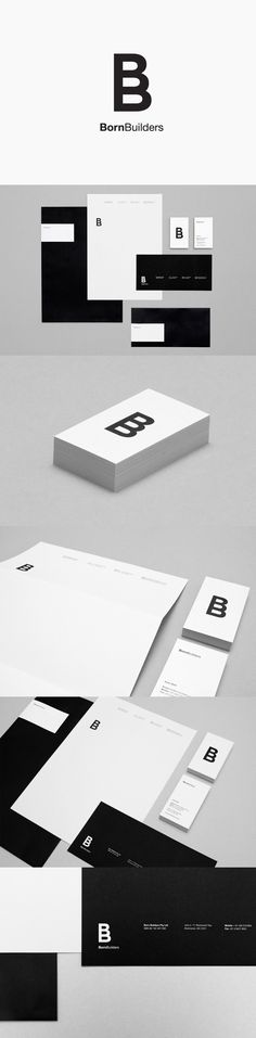 Logo for renovation and carpentry specialists Born Builders designed by The Drop Studio